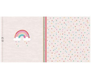 Bio Jersey Lillestoff - Regenbogen Panel