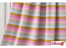 Bio Jersey Lillestoff - Regenbogenringel pastell
