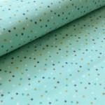 Bio Jersey Stoffonkel - Mini Jungle Confetti blau petrol