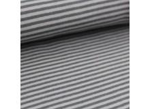Biojersey Streifen - grau mini