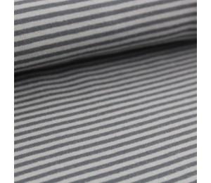 Biojersey Streifen - grau mini Stoffonkel
