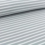Biojersey Streifen - Ringel Grau-weiß