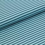 Biojersey Streifen - hellblau dunkelblau