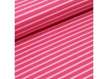 Biojersey Streifen - pink