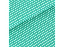 Biojersey Streifen - Ringel smaragd