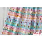 REST 13cm Bio Jersey Lillestoff - Lillyjou pastell Streifen Eis