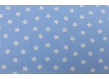 Jersey - Kleine Sterne hellblau