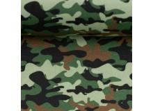 Baumwolle - Camouflage grün
