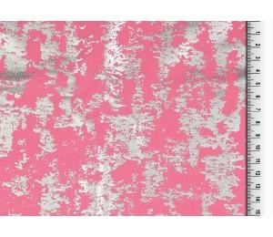 Twill - Elastik Twill Foliendruck rosa