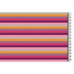 REST 40cm Jersey - Multicolor Ringel pink lila 6 mm
