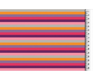 Jersey - Multicolor Ringel pink lila 6 mm