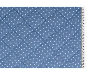 Double Gauze Musselin Stepper Sterne blau