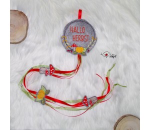 Stickserie - Herbstkranz