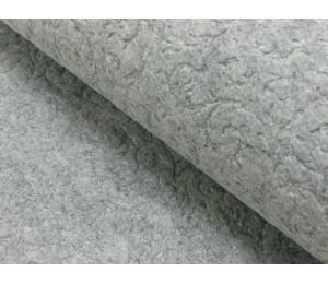Filz geprägt Ornamente grau meliert 2,5mm