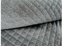 Jacquard-Stepper Jersey XL Rauten dunkelgrau meliert