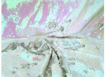 Wendepailletten - weiß holo silber