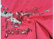 Wendepailletten - neon rosa pink matt und silber