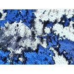 Wendepailletten - blau silber