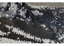 Wendepailletten - silber grau