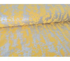 Twill - Elastik Twill Foliendruck gelb senf