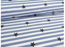 Paul & Clara Mini Stripes - Sterne blau