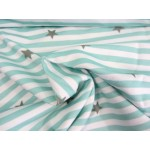 Paul & Clara Mini Stripes - Sterne mint