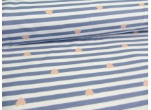 REST 50cm - Paul & Clara Mini Stripes - Herzen blau rosa