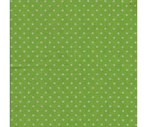 50cm Dekostoff Canvas Dots lime apfelgrün