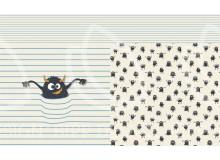 REST 56cm Jersey - Panel Monster Streifen sand