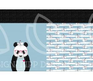 Jersey - Panel Panda maritim hellblau