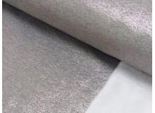 Alpenfleece glitzer Lurex silberfarben
