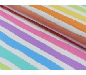 Jersey - Klecksparty gestreift neon pastell