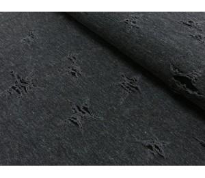 Jersey Destroyed Jeans - schwarz grau