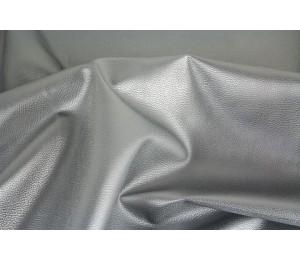 Kunstleder Rex metallisch glänzend silber