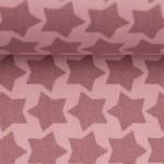 Textil Wachstuch - beschichtete Baumwolle Farbenmix Staaars altrosa rosa