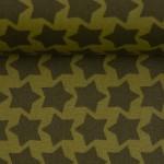 Textil Wachstuch - beschichtete Baumwolle Farbenmix Staaars oliv grün