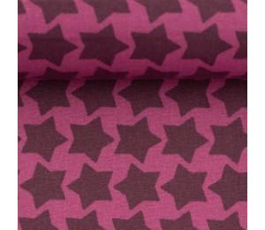 Textil Wachstuch - beschichtete Baumwolle Farbenmix Staaars pflaume lila