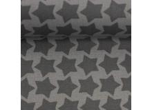 Textil Wachstuch - beschichtete Baumwolle Farbenmix Staaars anthrazit grau