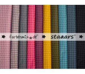 Textil Wachstuch - beschichtete Baumwolle Farbenmix Staaars senf gelb