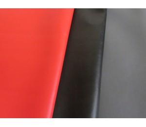 Kunstleder rot - grau - schwarz