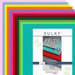 "Filz SULKY® FELTY, waschbar, 12Bögen á 29,5x21cm - Sortiment ""Farbig"""