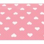 REST 90cm Wachstuch - Herzen rosa