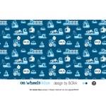 Bio Jersey Lillestoff - On Wheels blau