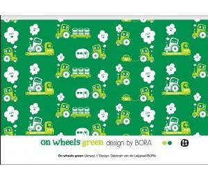 Bio Jersey Lillestoff - On Wheels grün